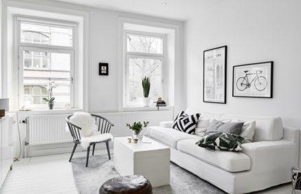 furnish with white