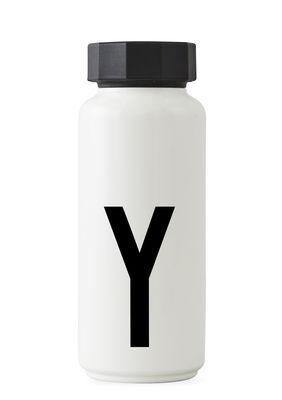 Arne Jacobsen Isothermflasche - 500 ml - Buchstabe Y Weiß Design Letters Arne Jacobsen