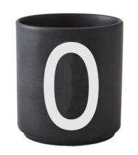 Mug Arne Jacobsen Letter O Black Design Letters Arne Jacobsen