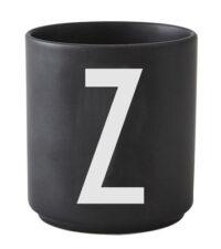 Mug Arne Jacobsen Letter Z Black Design Letters Arne Jacobsen