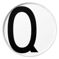Arne Jacobsen Assiette Lettre Q - Ø 20 cm Lettres design blanches Arne Jacobsen