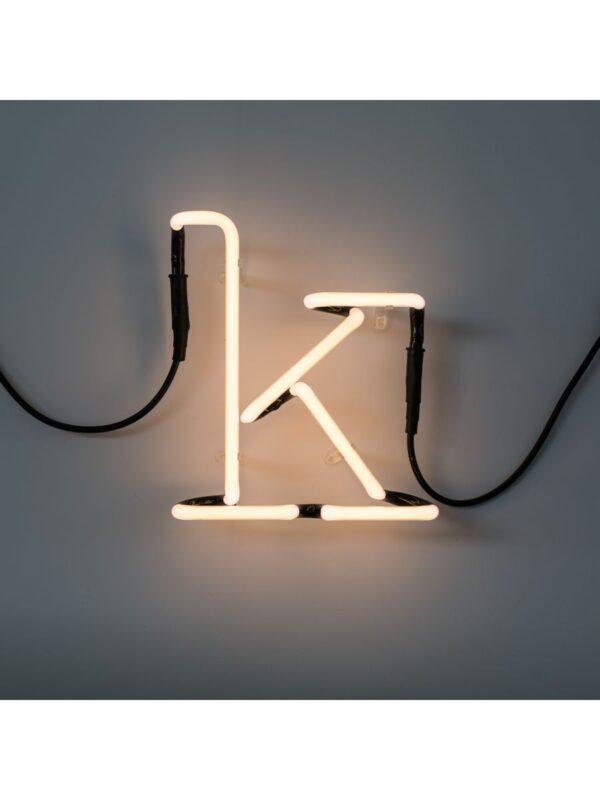 Neon Art Wall Lamp - Buchstabe K Weiß Seletti Selab