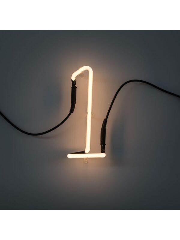 Neon Art Wall Lamp - 1 Nummer Weiß Seletti Selab