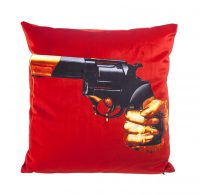 Toiletpaper cushion - Revolver - 50 x 50 cm Multicolor | Orange Seletti Maurizio Cattelan | Pierpaolo Ferrari
