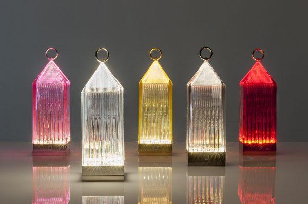 Lámpara de mesa inalámbrica Linterna Amber Kartell Fabio 2 de noviembre