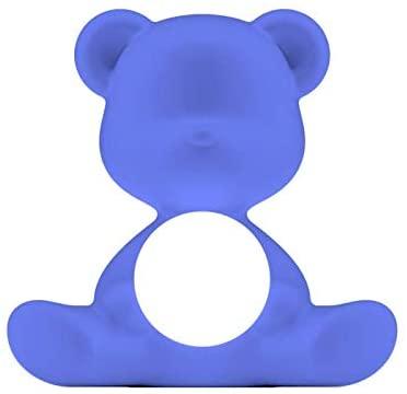 Lampe de table sans fil Teddy Girl Bleu clair Qeeboo Stefano Giovannoni 1