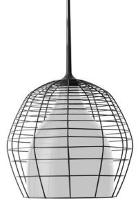 Lampada a sospensione Cage - Ø 46 cm Nero|Bianco Diesel with Foscarini Diesel Creative Team 1