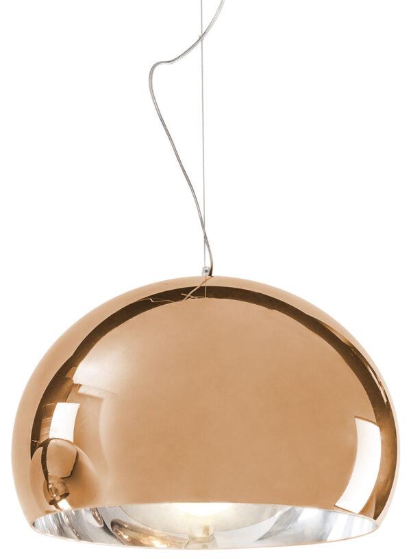 Lámpara de suspensión FL / Y - Ø 52 cm Cobre metálico Kartell Ferruccio Laviani 1