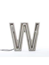 Alphacreteテーブルランプ - ホワイトレターW |グレー| Seletti BBMDSセメント