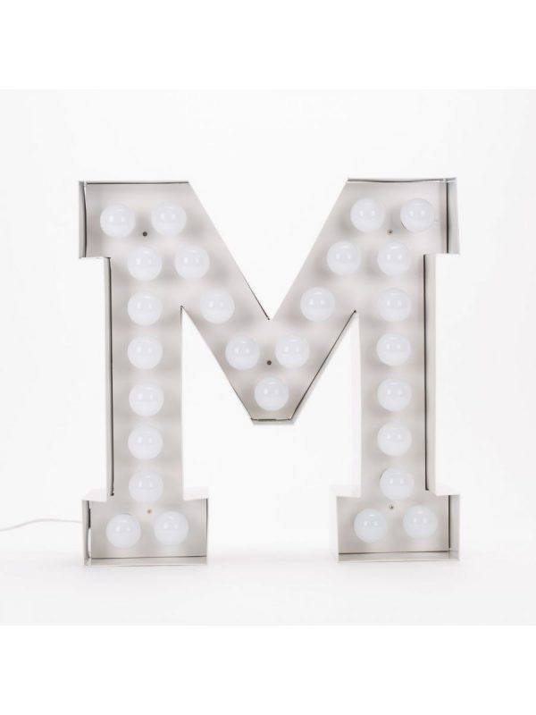 Vegaz Stehleuchte - Buchstabe M - H 60 cm Weiß Seletti Selab