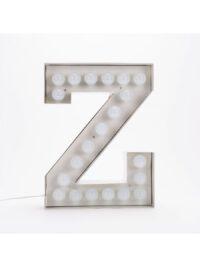 Vegaz Stehleuchte - Buchstabe Z - H 60 cm Weiß Seletti Selab