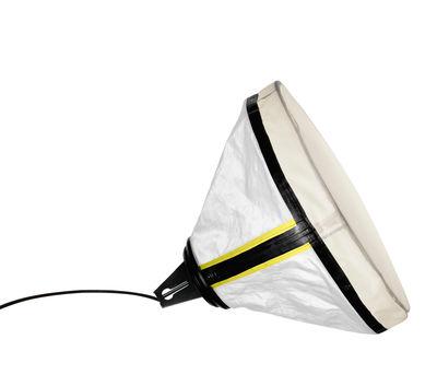 Επιτραπέζιο φωτιστικό Drumbox - Ø 45 cm Λευκό   Κίτρινο φθορισμού Ντίζελ με Foscarini Diesel Creative Team 1