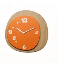 Woodie ρολόι τοίχου Ανοιχτό ξύλο | Πορτοκαλί Έργα Alberto Sala