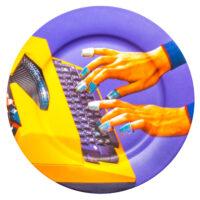 Piatto Toiletpaper - Machine à écrire multicolore Seletti Maurizio Cattelan | Pierpaolo Ferrari