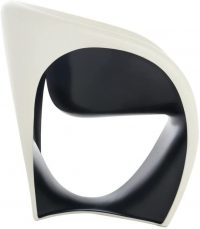 Sillón MT1 Arena blanca | Negro Driade Ron Arad 1