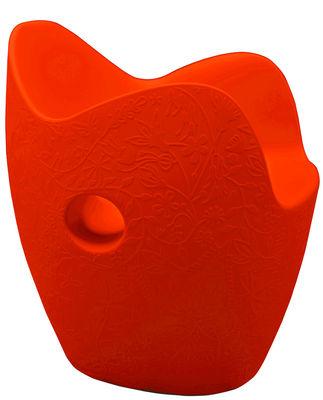 Armchair O-Nest Red orange Moroso Tord Boontje 1