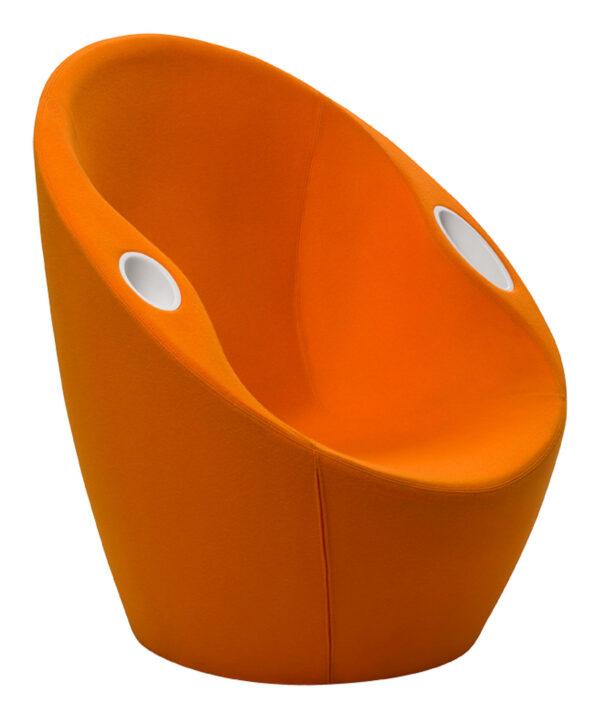 Ouch Πολυθρόνα με Casamania Πορτοκαλί αγκώνα Karim Rashid στηρίζεται