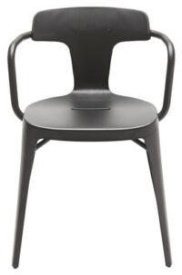 Armchair T14 / Inox - For outdoor use Black Tolix Patrick Norguet 1