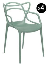Poltrona empilhável de mestres - Lote de 4 Kartell verde sábio Philippe Starck | Eugeni Quitllet 1