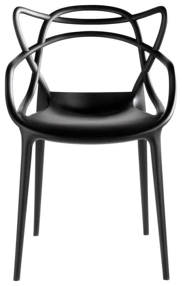Masters Black Kartell Philippe Starck stapelbarer Sessel | Eugeni Quitllet 1