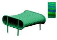 Πουφ σκιερά Μπλε | Πράσινο Moroso Tord Boontje 1