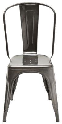 Président acier / en acier de couleur avec un vernis transparent Tolix sombre Xavier Pauchard 1