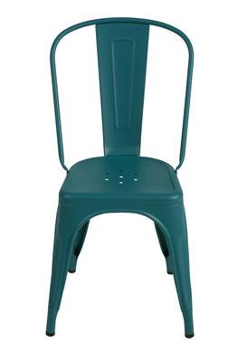 Καρέκλα Ένα πράσινο αδιαφανές κοκκοποιημένο Tolix Xavier Pauchard 1