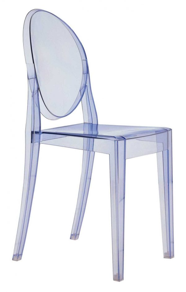 Chaise empilable Victoria Ghost Bleu clair Kartell Philippe Starck 1