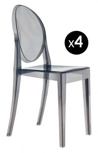 ビクトリアゴーストスタッカブルチェア-4本セットFuméKartell Philippe Starck 1