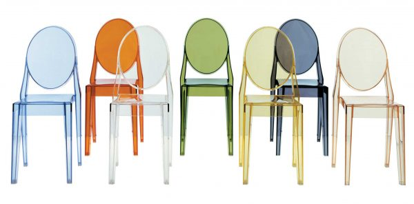 Victoria Ghost Transparent stacking chair Kartell Philippe Starck 2