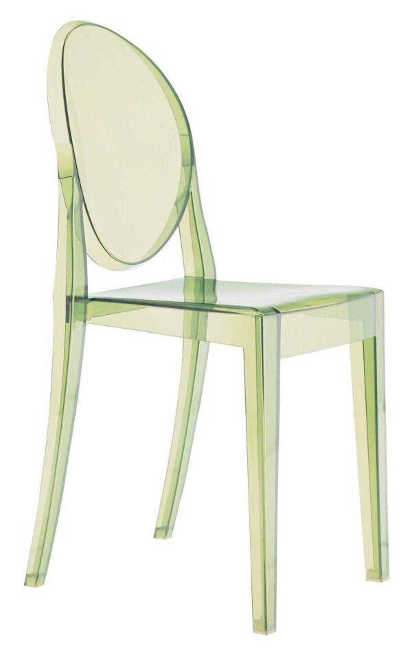 Victoria Ghost Green Kartell Philippe Starck 1 στοίβα με δυνατότητα στοίβας