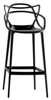 Sgabello alto Masters - H 75 cm Nero Kartell Philippe Starck|Eugeni Quitllet 1