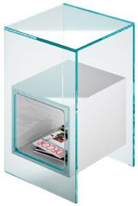 Magique Λευκό Τραπέζι Καφέ | Διαφανές FIAM Studio Klass