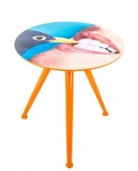 Mesa de centro de papel higiénico - Crow Ø 48 x H 49 cm Multicolor Seletti Maurizio Cattelan | Pierpaolo Ferrari