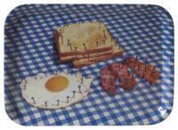 Plateau de toilette - Petit déjeuner - 43 x 32 cm Multicolore | Blanc | Bleu Seletti Maurizio Cattelan | Pierpaolo Ferrari