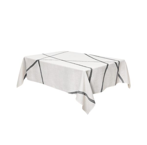 Tablecloth Lugo - 230 140 cm x Black internoitaliano Irene Bacchi | Leonardo Sonnoli