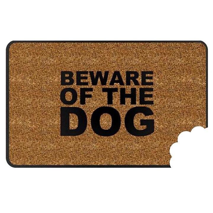 犬の注意玄関マット