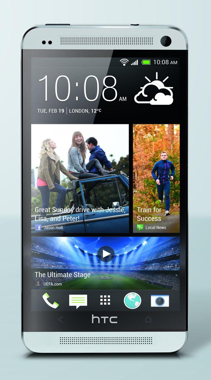 HTC One argent avant Maître Photo Crop