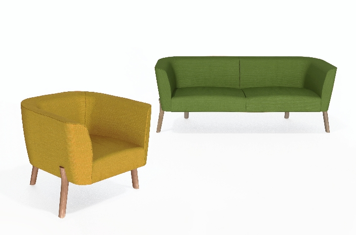 Sofa abril por Sir Kenneth Grange com Jack Smith