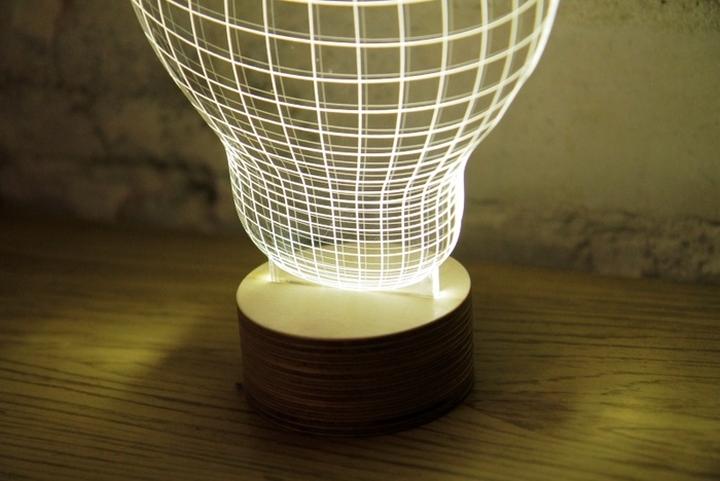 Bulbificação 3d candeeiro de mesa compartimento do projeto social-13