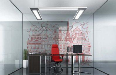 オフィスの壁パリ1