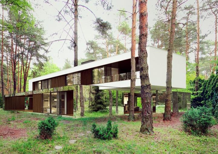 Reforma architekt Marcin Tomaszewski espejo refelctive casa Izabelin 2 03