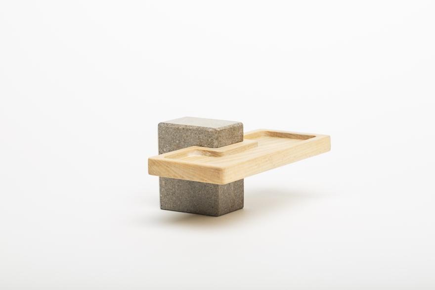 Appetizer Tür aus Holz und Stein