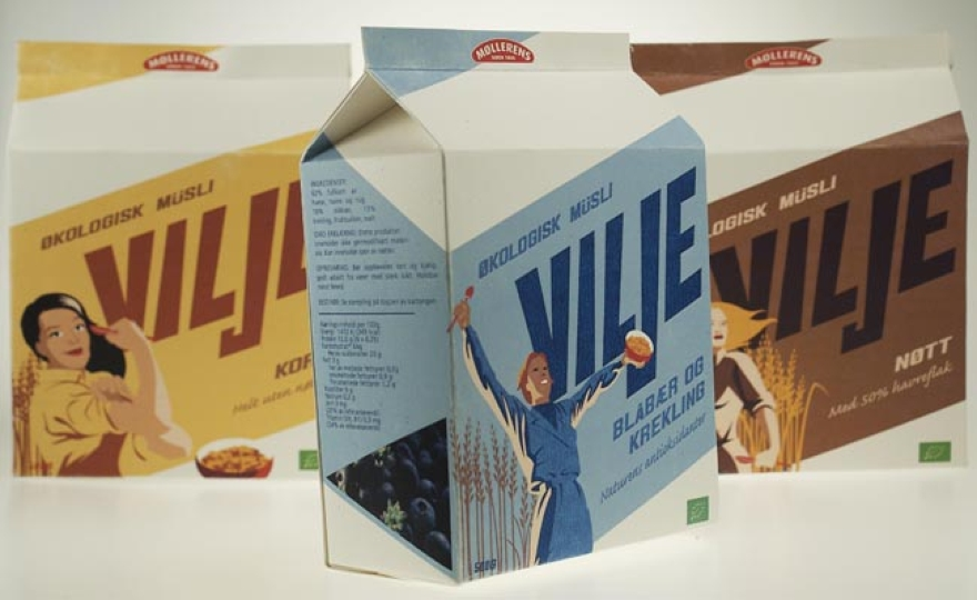 σχεδιασμού συσκευασίας Vilje μούσλι 02