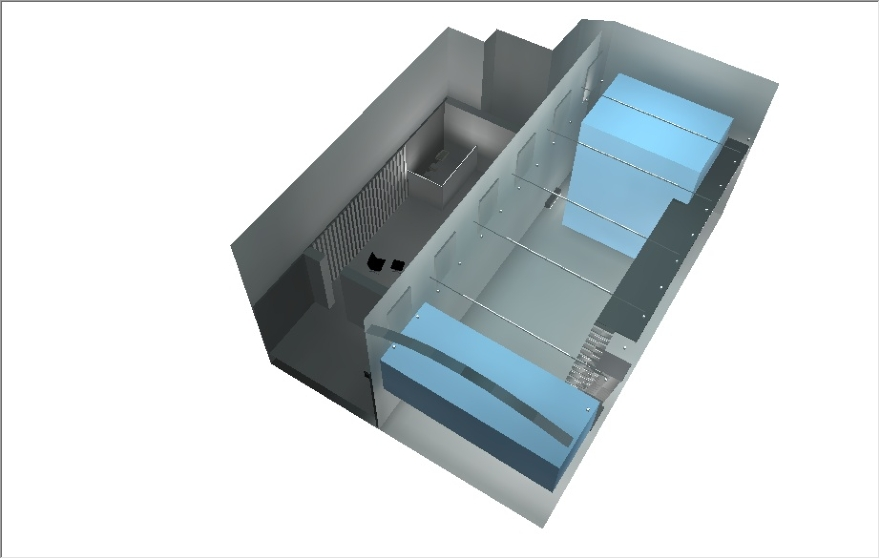 Rada Markovic, diseño de iluminación para Massimo Vitali casa 15B DIALux 3D rinde con vista superior