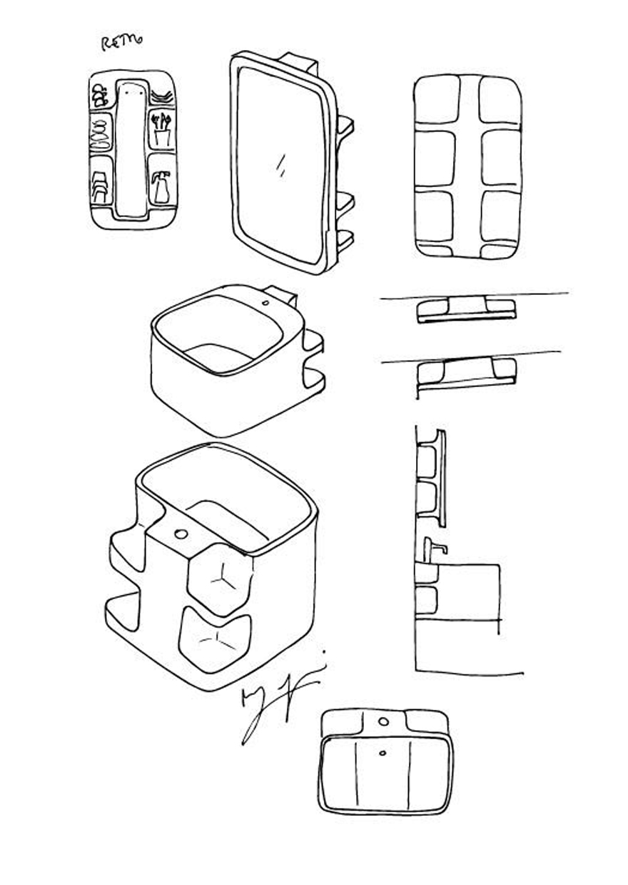 Amphibian Riviera - Matteo Ragni, sketches