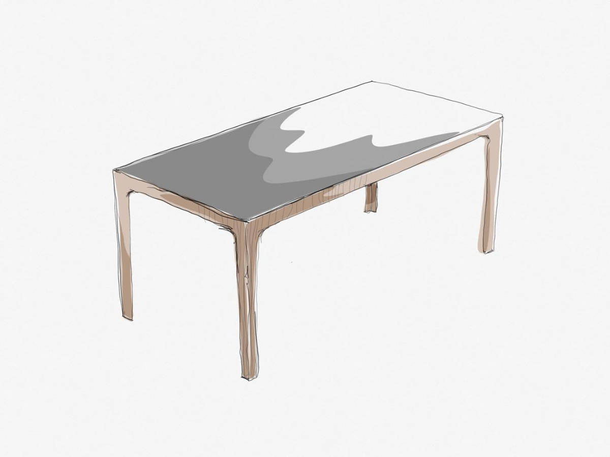 Amalong table, Giulio Iacchetti for Bross