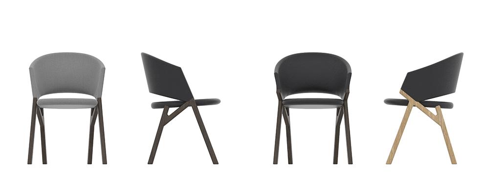 Byron, colección de sillas, Riccardo Giovanetti para P & C