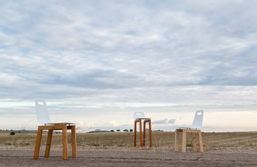 """""""Timo chair"""" and """"thyme stool"""", Michelangelo Olivieri design for m12 AD"""