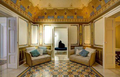 Corato, Puglia: interior of the house renovated by the architect. Esther tattoli.